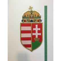 36cm hímzett magyar címer felvarró