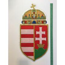 46cm hímzett magyar címer felvarró