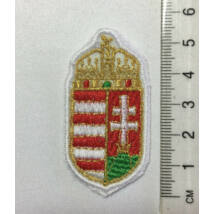 5,5cm hímzett magyar címer felvarró