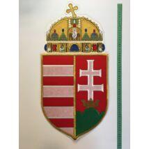 62cm hímzett magyar címer felvarró