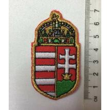 7cm hímzett magyar címer felvarró