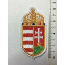 8cm hímzett magyar címer felvarró