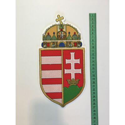 27cm hímzett magyar címer felvarró